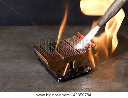 Burning Heat Sink