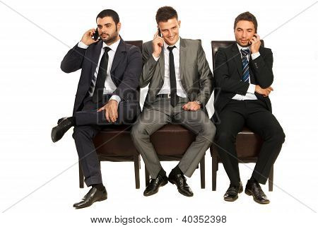 Business Men On The Phones