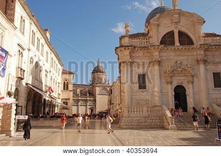 Church Of St Blaise On Luza Square,Dubrovnik, Croatia