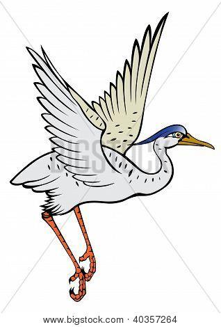 Chinese Heron Painting