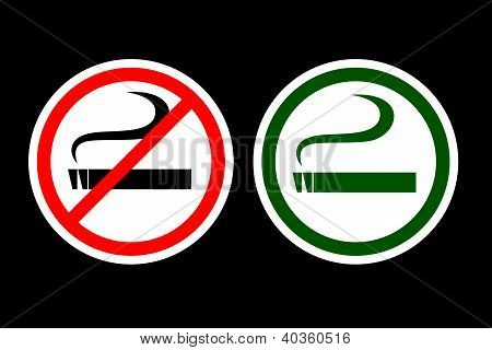 No Smoking and Smoking Zone