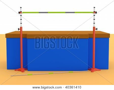High Jumps. Track And Field. 3D Sports Equipment