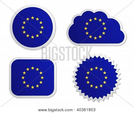 European Union Flag Labels