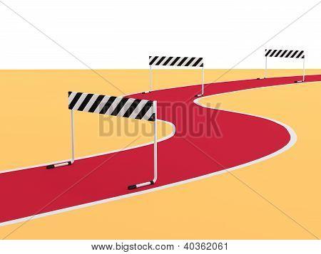Steeplechase. 3D Sports Illustration