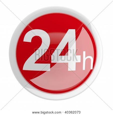 24 Hours. 3D Button