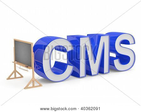 Cms Sign. Programming Education Concept