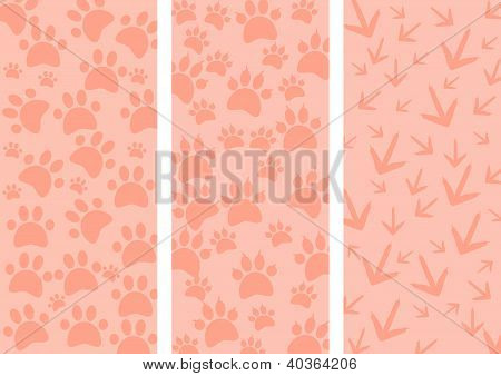 Animal tracks as three different background