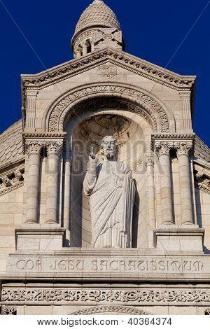 Christ In The Sacre Coeur, Montmarte, Paris, France