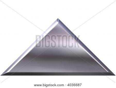 3D Silber Pyramide