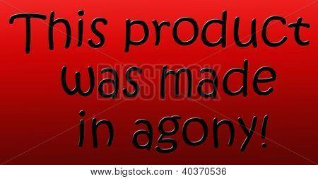 Humoristic Manufacturing Label