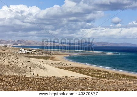 The beach of Playa Barca, Jandia peninsula, Fuerteventura