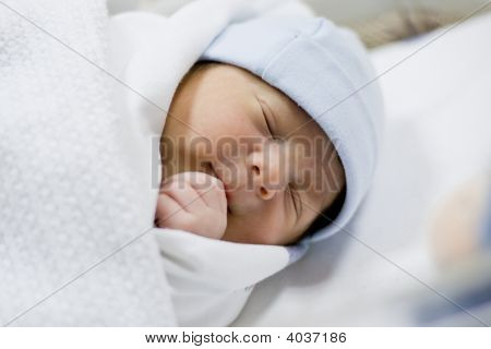 Cute Baby Newborn Boy
