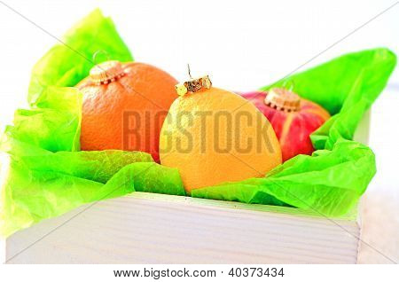 fruits like a christmas ornaments