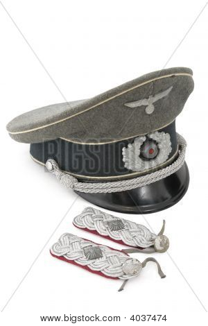 Lieutenant Colonel Shoulder Strap And Service Cap