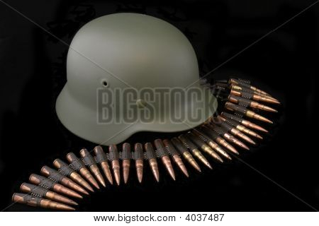 German Battle Helmet Of Wwii