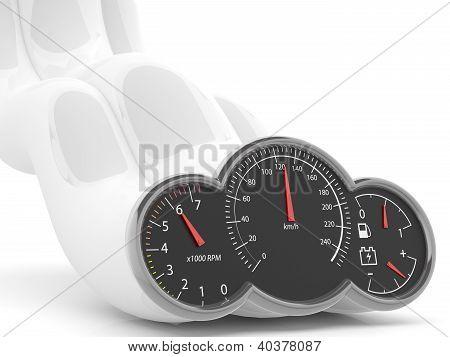 Speed Concept. 3D Speedometer