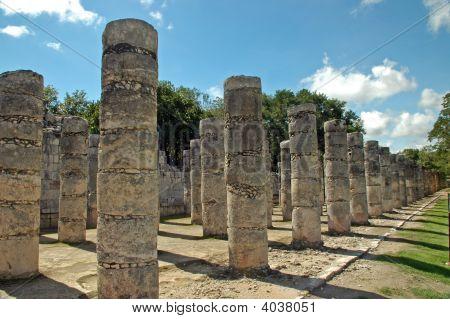 Ancient Mayan Columns