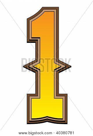 Western Alphabet Number  - 1