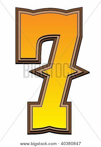 Western Alphabet Number  - 7
