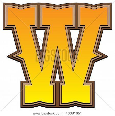 Western Alphabet Letter - W