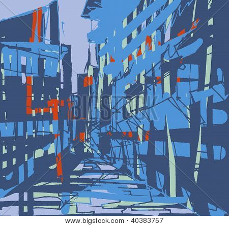 An abstract building illustration