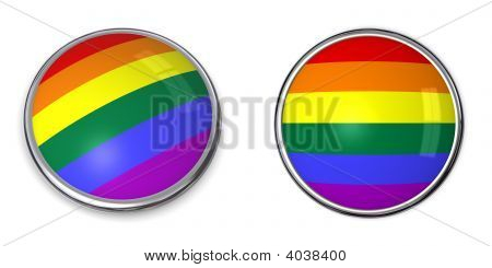 Banner botón bandera del arco iris