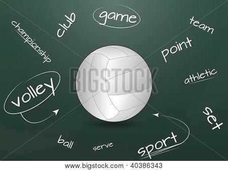 Volleyball Chalkboard