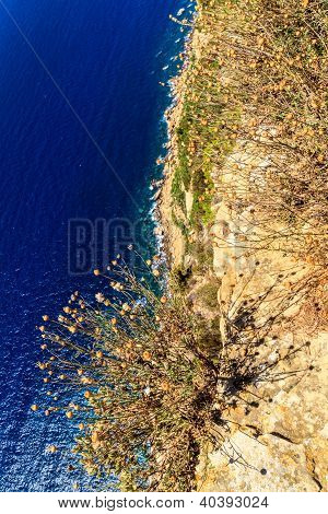 Aerial View Of Beautiful Scenic Coastline Near Cassis In Southern France