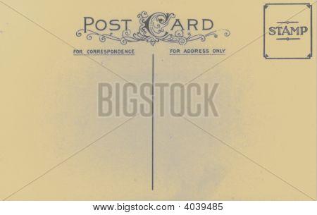 Vintage Antique 1905 Postcard Blank