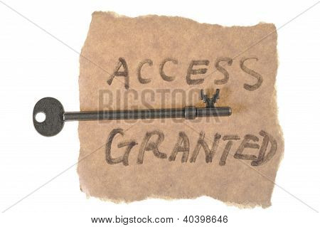 Old Key And Access Granted Words