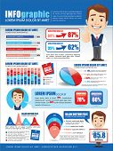 stock photo of pie-in-face  - Inforgraphics with businessman - JPG
