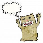 stock photo of growl  - cartoon growling bear - JPG