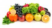 pic of food truck  - set of different fruits and vegetables isolated on white background - JPG