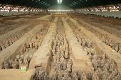 stock photo of qin dynasty  - Qin dynasty Terracotta Army in Xi - JPG