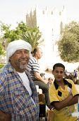 Editorial Juice Vendor With Son Damascus Gate Jerusalem