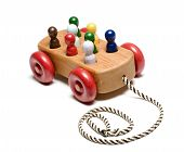 pic of train-wheel  - handmade expensive wooden train children - JPG