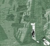 picture of urbanisation  - A contemporary illustration of big city buildings - JPG