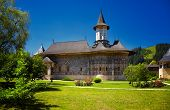 stock photo of suceava  - Sucevita painted monastery in Romania - JPG