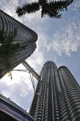 image of petronas towers  - A fish eye shot describes the Twin Towers - JPG