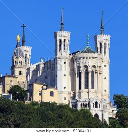 View Of Basilica Of Notre Dame De Fourviere