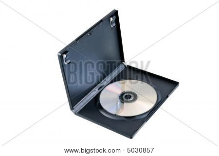 Dvd Case On The White Background With Clipping Path