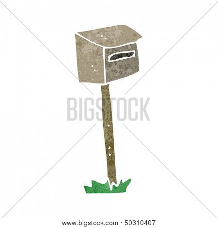 retro cartoon letterbox