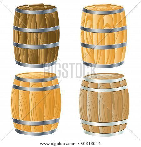 Wooden Barrel Of beer or wine