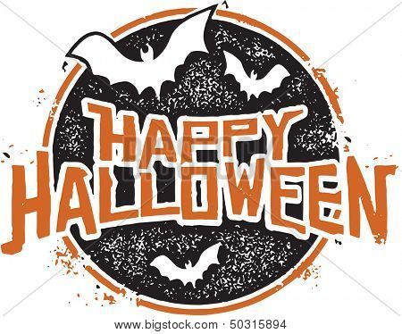 Happy Halloween Grunge Graphic