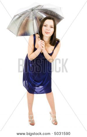 Woman With Umbrella Make Fool