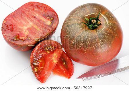 Black Tomatoes On White