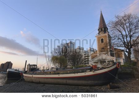 Barge And Church