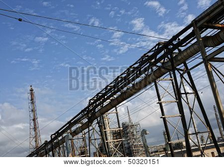 Refinery plant, oil industry background