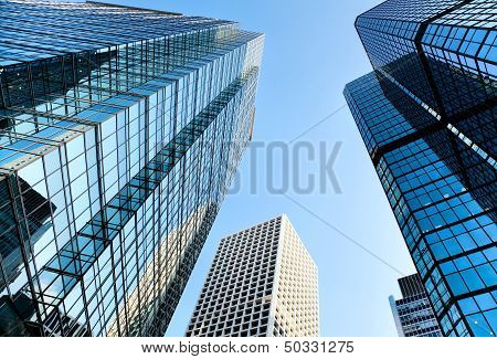 Office building on blue sky