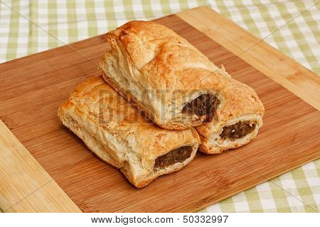 Sausage Roll Kitchen Setting